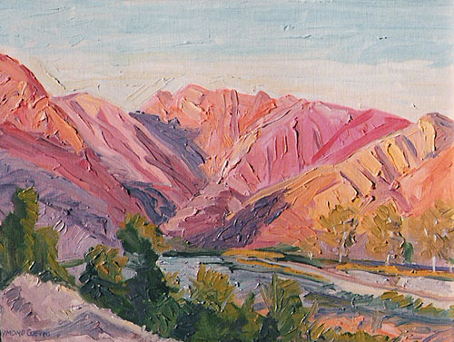 Sespe Canyon, Sunset